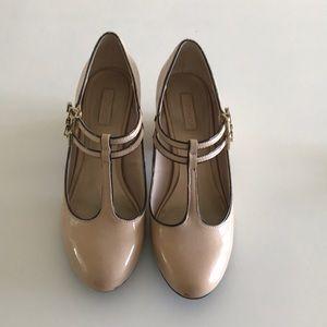 Topshop T-Strap Tan Heels